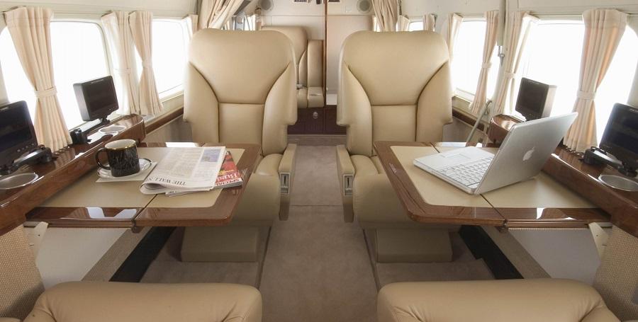 Higienização interna de aeronaves